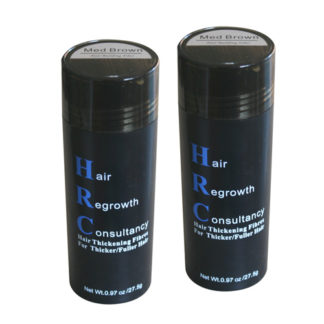 HRC Hair Thickening Fibres 55gram Twin Pack