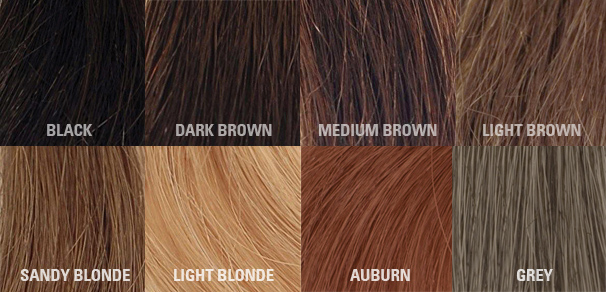 Hair Thickening Fibre colour chart